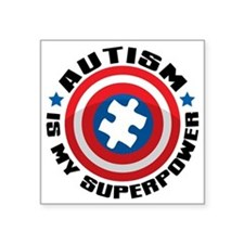 "Autism Shield Square Sticker 3"" x 3"""