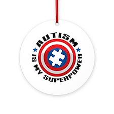 Autism Shield Round Ornament