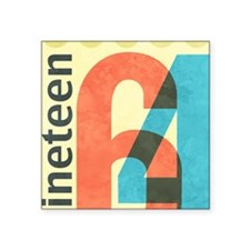 "Nineteen 64 Square Sticker 3"" x 3"""