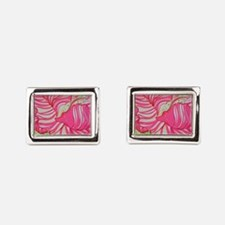 Pink Hibiscus in Lilly Pulitzer Style by Cufflinks