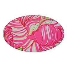 Pink Hibiscus in Lilly Pulitzer Sty Decal