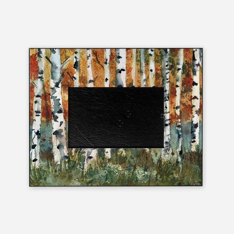 Birch tree picture frames photo