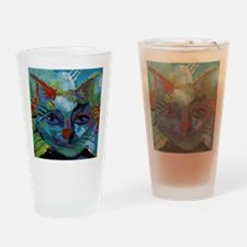 Cat in Abstract Francis Drinking Glass