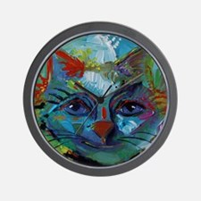 Cat in Abstract Francis Wall Clock