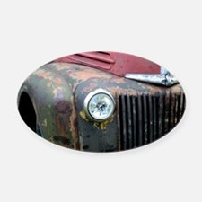 Rusty car Oval Car Magnet