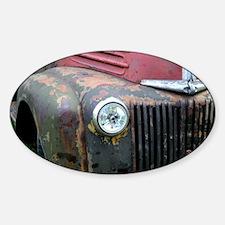 Rusty car Sticker (Oval)