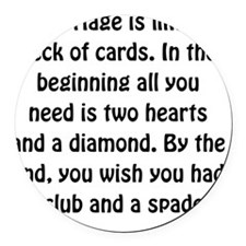 Marriage Cards Round Car Magnet