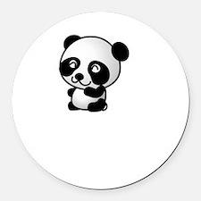 Panda Race Round Car Magnet
