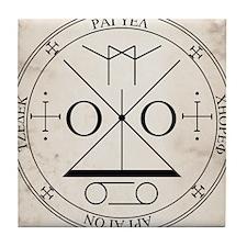 RaguelSeal-parchment Tile Coaster