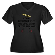 Good Evil Si Women's Plus Size Dark V-Neck T-Shirt