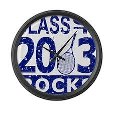 Class Of 2013 Rocks Large Wall Clock