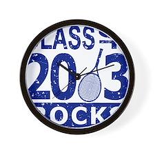 Class Of 2013 Rocks Wall Clock