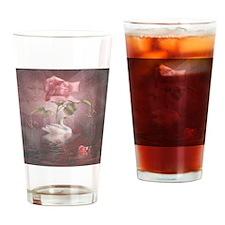 4SSwan Rose Drinking Glass