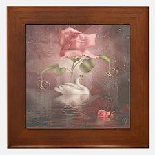 4SSwan Rose Framed Tile