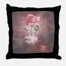 4SSwan Rose Throw Pillow