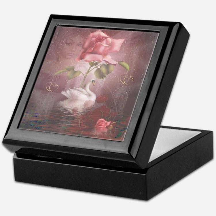 4SSwan Rose Keepsake Box