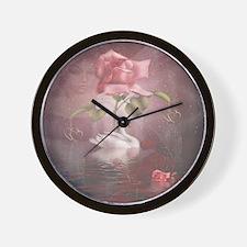 4SSwan Rose Wall Clock