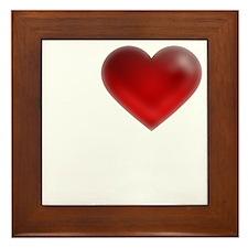 I Heart Jekyll Island Framed Tile
