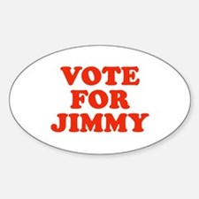 Vote for Jimmy Oval Decal