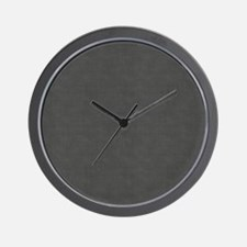 Porous Dark Metal Wall Clock