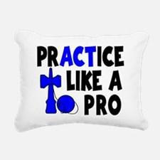 blue, Practice Like a Pr Rectangular Canvas Pillow
