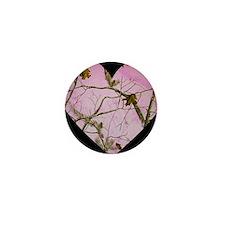 pink camo heart Mini Button