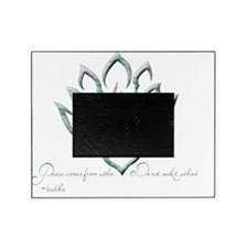 Buddha Lotus Flower Peace quote Picture Frame
