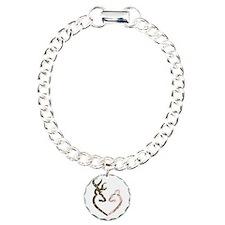 buck nd doe heart Bracelet