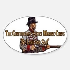 The Confederate States Marine Corps Sticker (Oval)