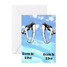 DIVING CHAMP Greeting Card