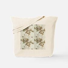 Golden Asian Dragon Tote Bag