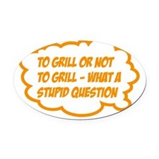 grill Oval Car Magnet