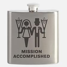 Mission Accomplished (Wedding / Marriage) Flask