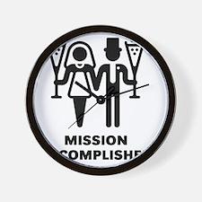 Mission Accomplished (Wedding / Marriag Wall Clock