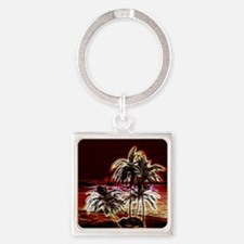 ni_round_coaster Square Keychain