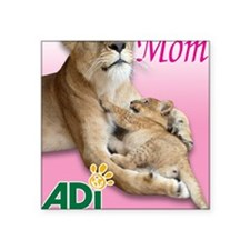"US Mothers Day Kiara Square Sticker 3"" x 3"""