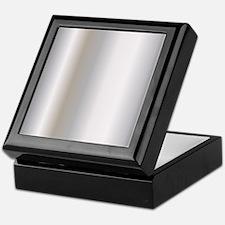 Metallic Silver Keepsake Box