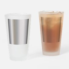 Metallic Silver Drinking Glass