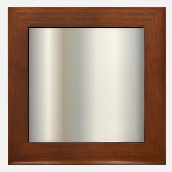 Metallic Silver Framed Tile