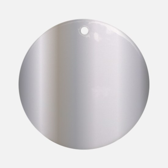 Metallic Silver Round Ornament