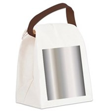 Metallic Silver Canvas Lunch Bag