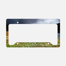 Wastwater storm clouds License Plate Holder