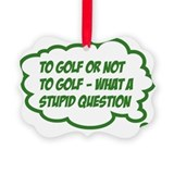 Golf Picture Frame Ornaments