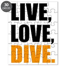 live love dive Puzzle