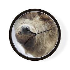 Sloth Curtains Wall Clock