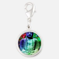 Life Tripping With Buddha Silver Round Charm