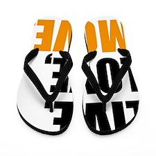 live love move Flip Flops