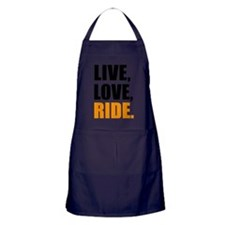 live love ride Apron (dark)