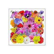 """MultifloralSquare 0609 Square Sticker 3"""" x 3"""""""