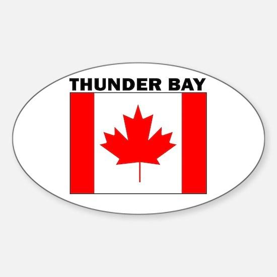 Thunder Bay, Ontario Oval Bumper Stickers
